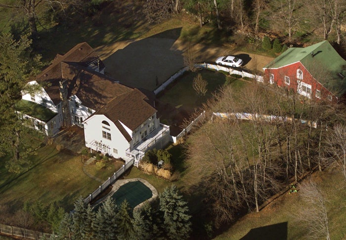 A 2000 file photo shows the Clintons' property in Chappaqua.