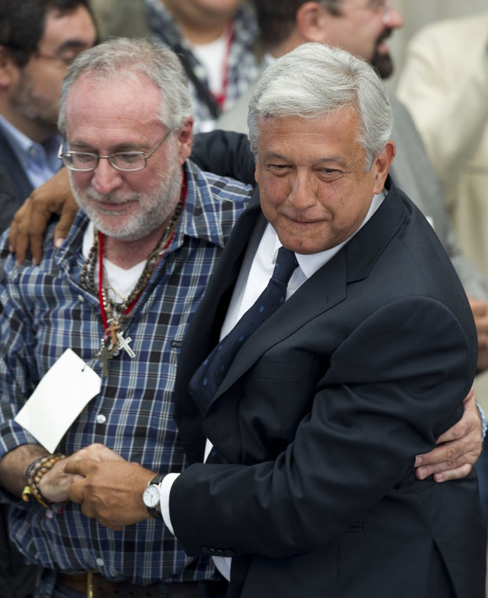 López Obrador and Sicilia in 2012.