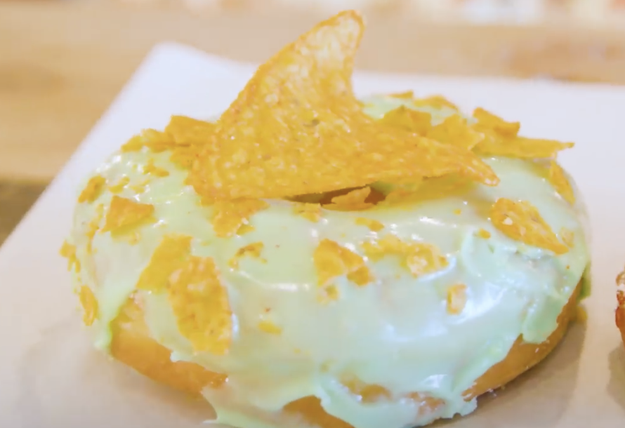 And finally, folks, this is a Mountain Dew donut with Dorito crumbles on top.