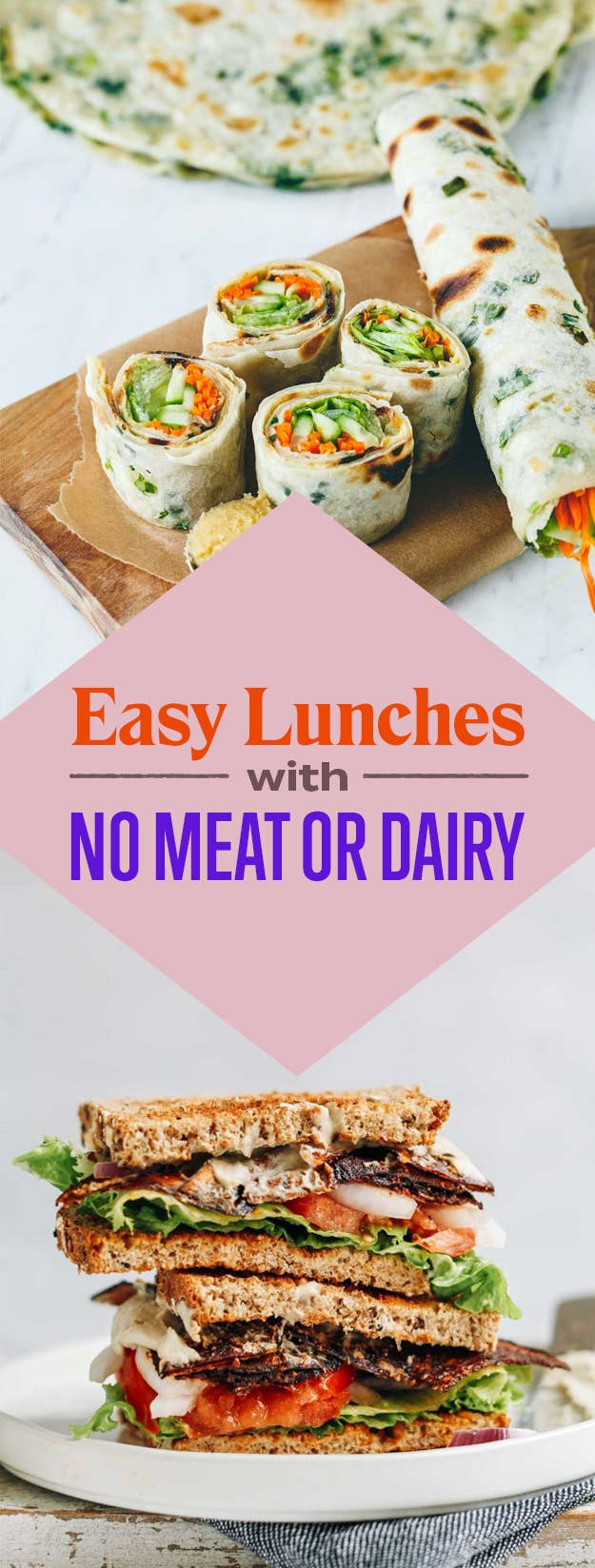 19 easy lunches with no meat or dairy share on facebook share forumfinder Image collections