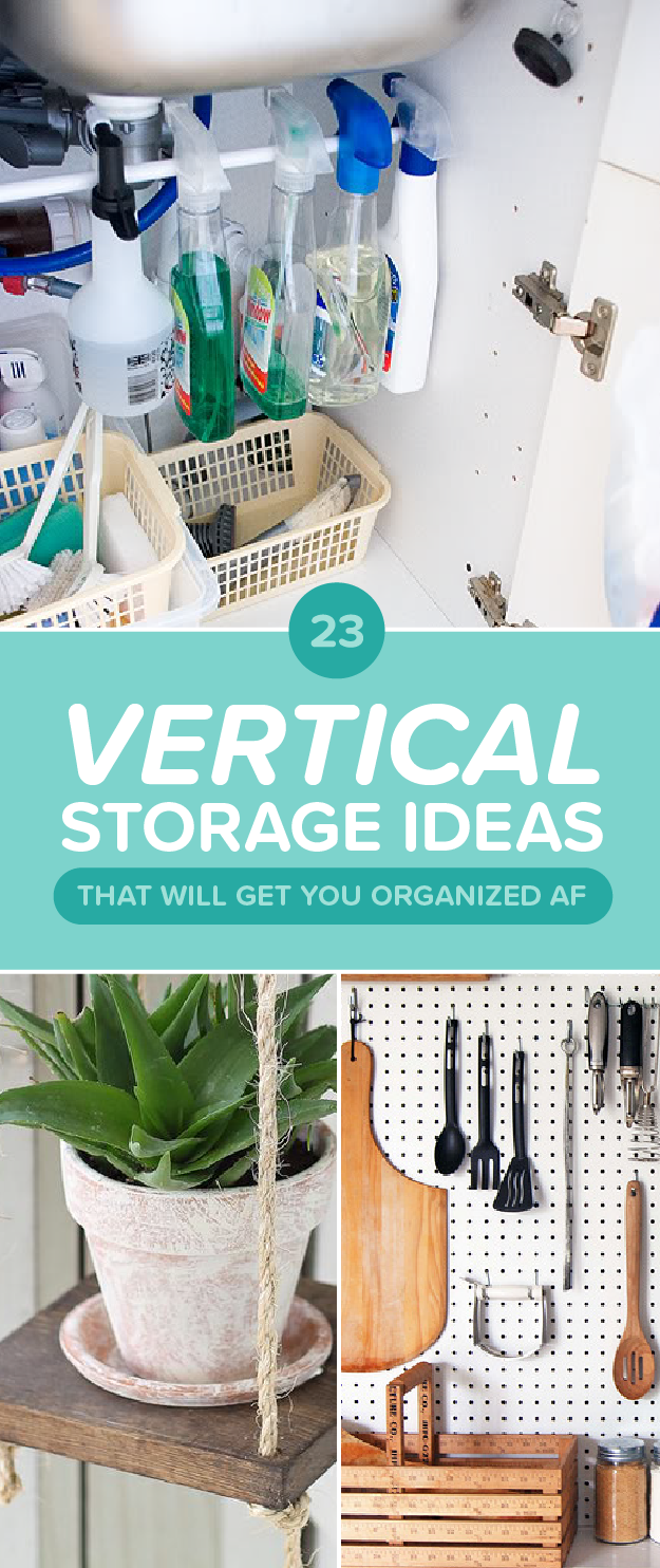 23 vertical storage ideas to make everything ok (in your apartment) Make Storage Ideas