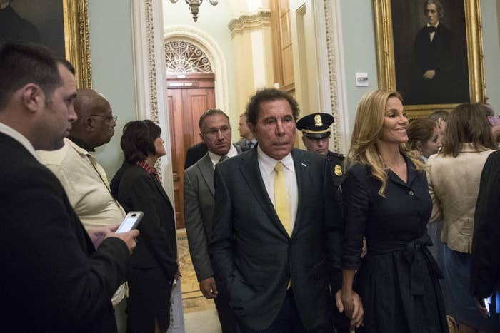 Steve Wynn at a Senate GOP conference meeting on Capitol Hill.