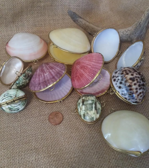 These vintage-inspired polished shell pill boxes that will make you feel like a mermaid walking around on land.