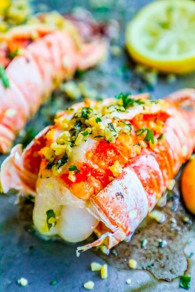 Ten-Minute Lemon Garlic Butter Lobster Tails