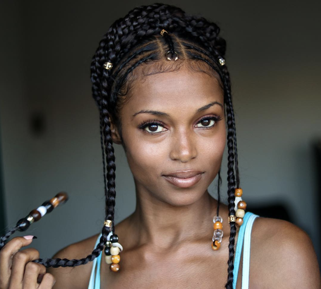Bo Derek braids...who said that?! These are fulani braids, hunny.
