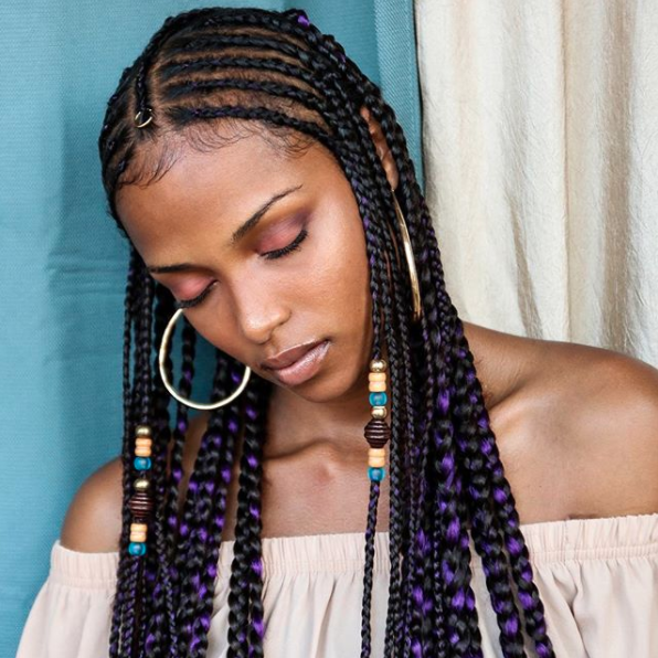 Hi, world! This stunningly regal hairstyle is called Fulani braids.