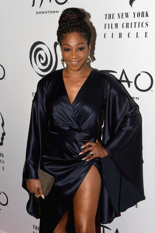 At Wednesday night's New York Film Critics Circle Awards, Girls Trip breakout star Tiffany Haddish captivated an audience of her peers with a hilarious and moving speech after she accepted the award for best supporting actress.