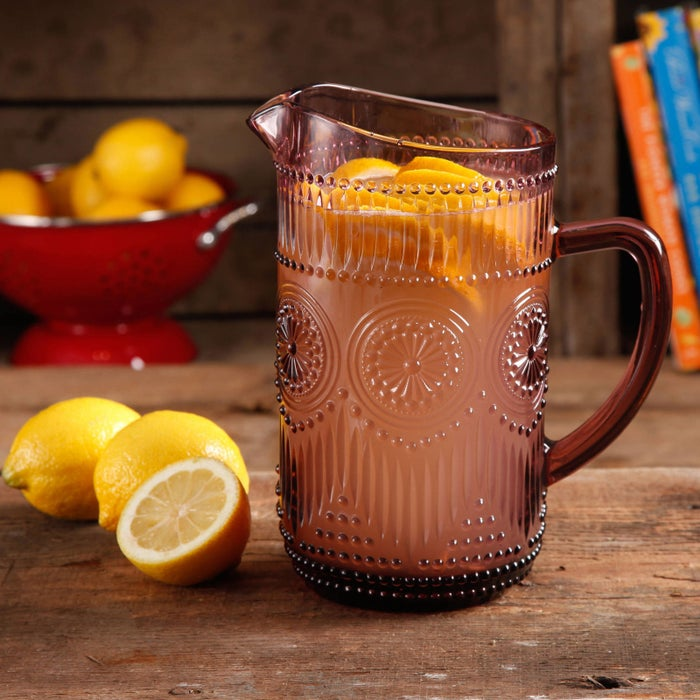 """Promising review: """"I love this pitcher. It looks great! It's heavy and of great quality. I look forward to seeing it on my table each evening during dinner. You won't be sorry if you purchase this."""" —StitchingBellePrice: $12.72 (three colors)"""