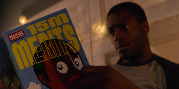 Later on, Jack is reading a comic book called 15 Million Merits, which you should recognize from season two.