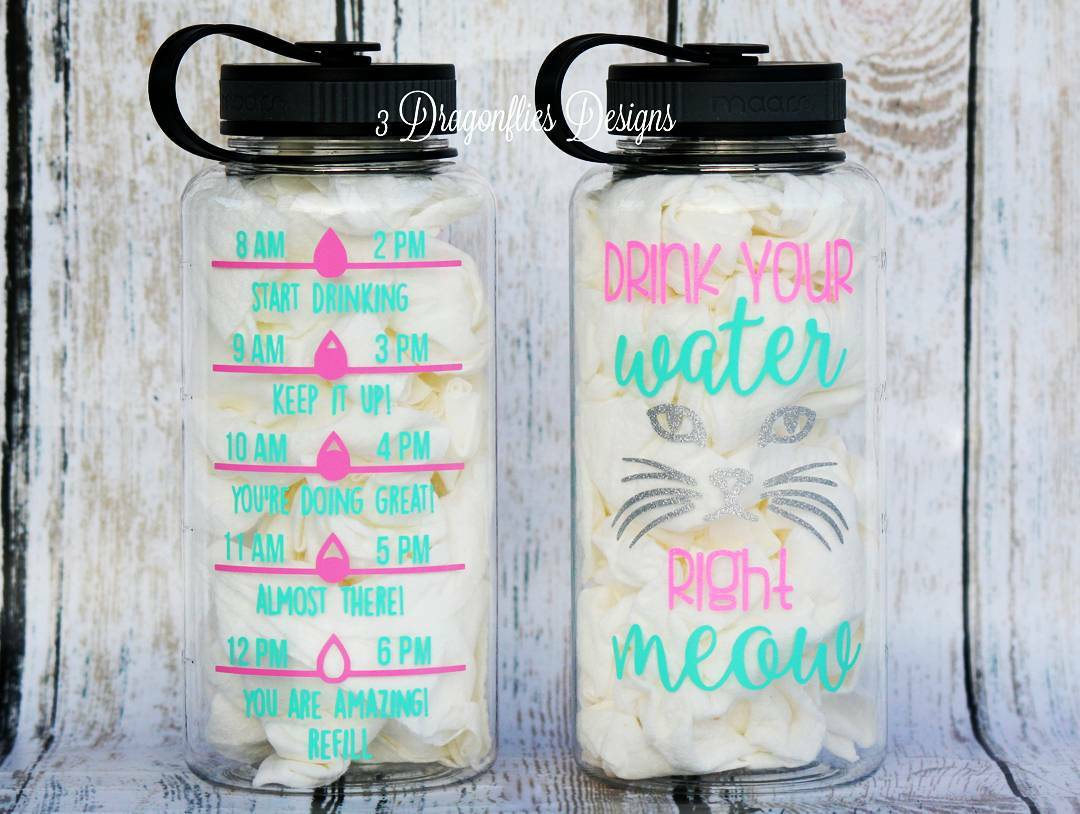 b3125d7bc5 4. A motivational water bottle to encourage you to drink water according to  the schedule.