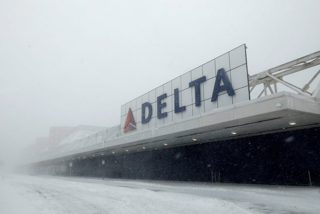 Nearly 5,000 flights have been cancelled due to the storm and New York City's JFK and La Guardia airports have shut down.