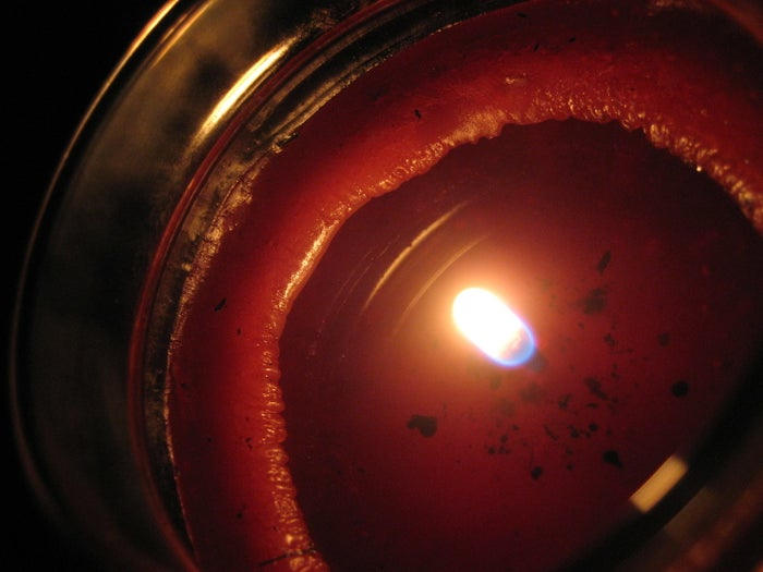 Fun fact: Your candle has a memory. The wax will only melt as far as it did the first time you burned the candle. So, if you don't melt the entire top layer of wax on your first burn, the candle will tunnel its entire life. YIKES. To prevent this, candles should burn one hour for every inch in diameter. For example, if a candle is three inches across, it should burn for three hours to melt the top layer evenly. While the first burn is most important, you should strive for an even burn every time — both to avoid tunneling and to achieve the biggest and boldest smell.