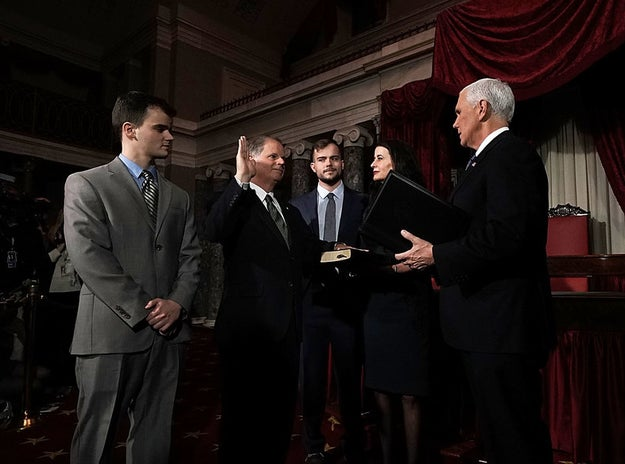 And after a failed attempt by Moore to stop Jones' win being officially certified, Vice President Mike Pence swore the new senator in on Wednesday.
