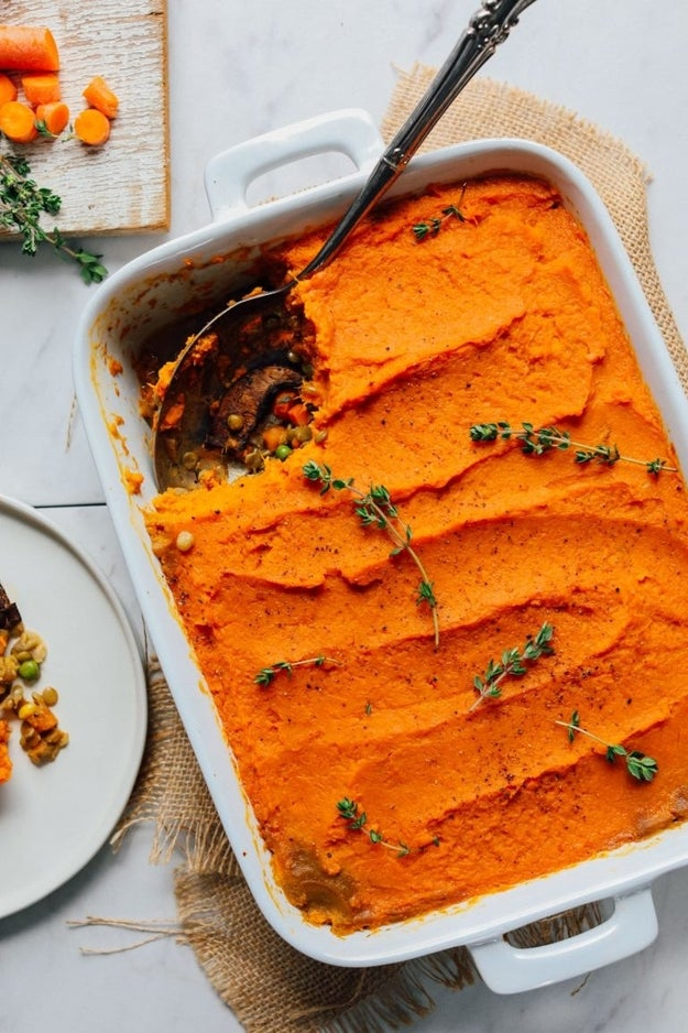 Lentil and Sweet Potato Shepherd's Pie