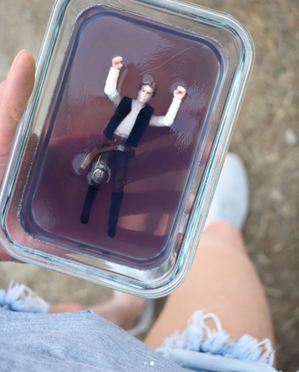 Capture Han Solo in carbonite — which in this case is actually yummy jello!