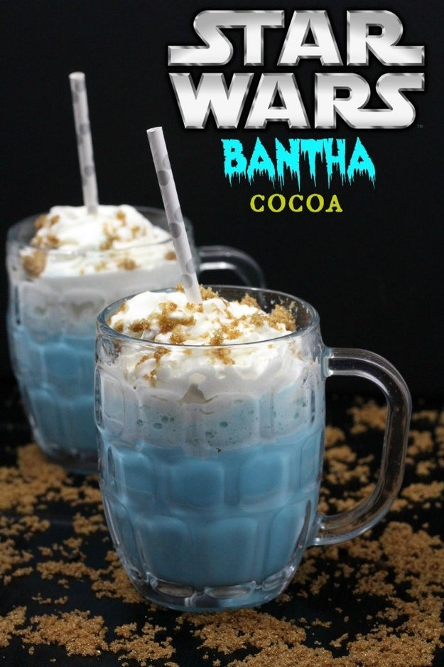 Remember the blue Bantha milk young Luke drank on Tatooine? Well, you can make it (or at least something inspired by it).