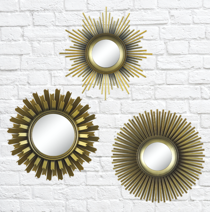 """Promising review: """"The mirrors look pretty, not cheap looking at all. They are just the right size for a small guest bathroom. They make the room look brighter and more sophisticated. Can't beat the price! Very pleased with my purchase."""" —HappyShopperPrice: $14.77"""