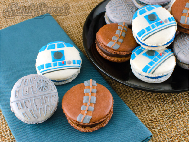 I know, I know. These are probably hard to make. But come on! Star Wars macaroons!