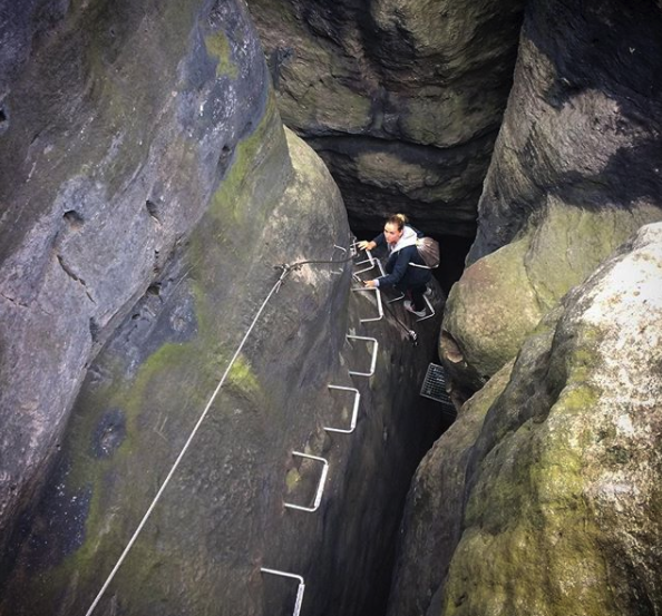 If you're up for a little climbing, you can get even better pics.