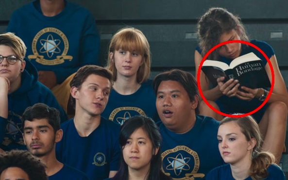 In Spider-Man: Homecoming, Michelle is reading Of Human Bondage.