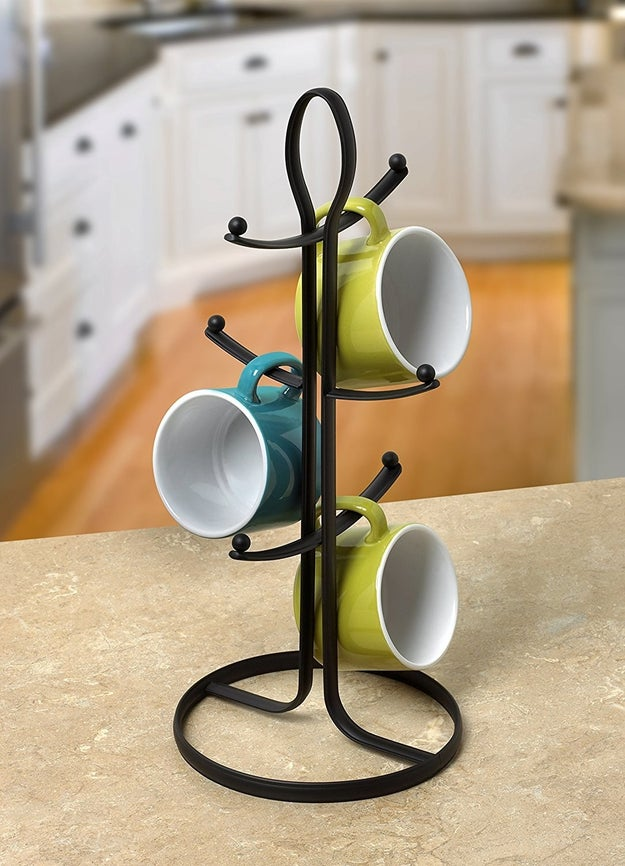 A stylish mug holder, because your cabinets have enough to deal with.