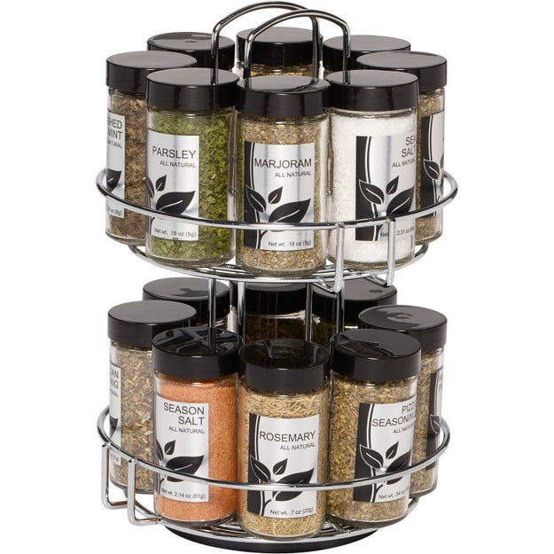 This fancy two-level spice rack, because everything needs a home.