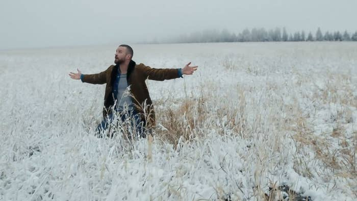 Justin Timberlake in the teaser video for Man of the Woods.