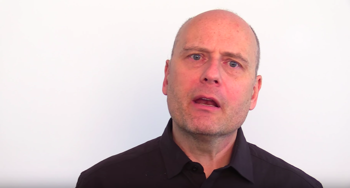 Far-right figure Stefan Molyneux in a video encouraging followers to stand behind protesters in Iran.