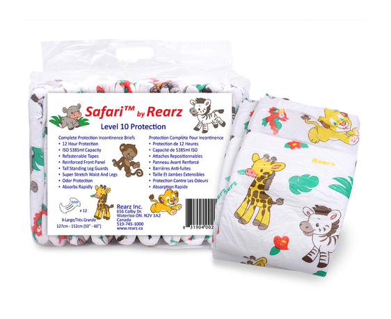 Rearz brand diapers for adults.