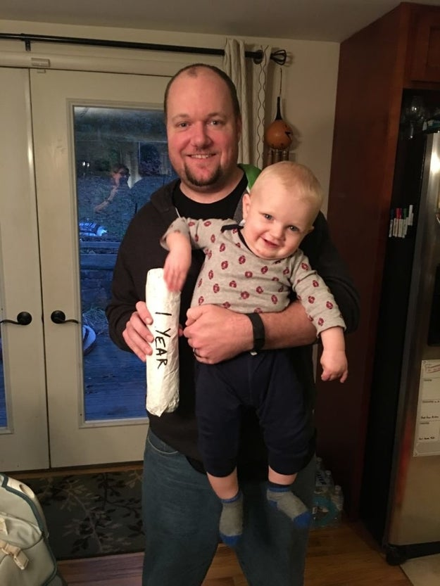 """Then, after a year of monthly photos, Williams decided it was time to stop. """"As Lucas grew older he began to dislike cheesesteaks. That's why I'm holding him in the one-year picture — because he wanted nothing to do with it,"""" Williams said."""
