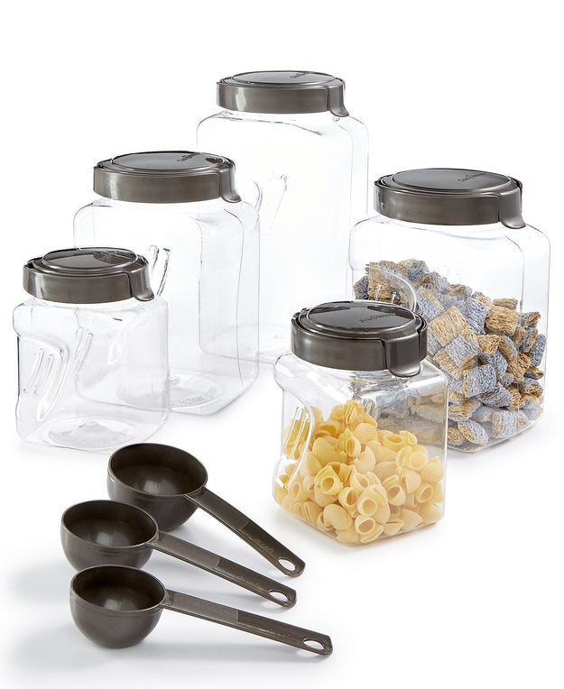 A 13-piece canister set that's perfect on so many levels.