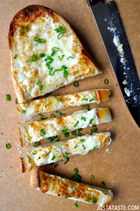 Use it to create a creamy cheese spread perfect for melting on top of garlic bread.