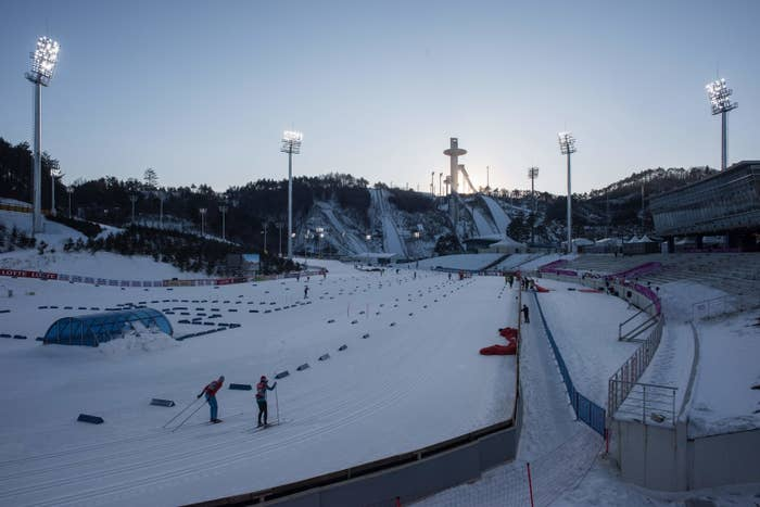 The Nordic skiing and ski jump venues for the 2018 Winter Olympics in Pyeongchang, South Korea.