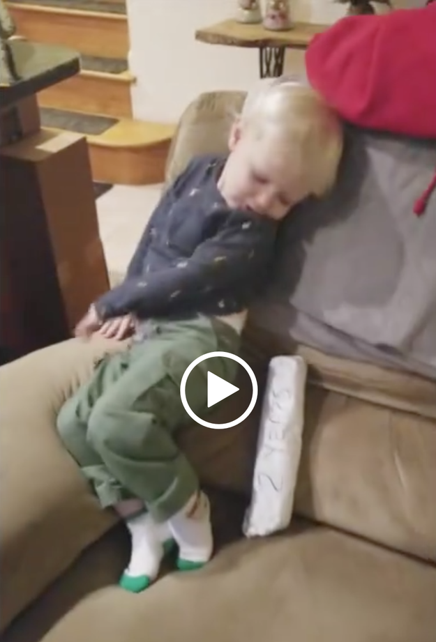 You can watch this hilarious video of his son rejecting the sandwich on his blog.
