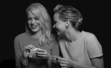 Jennifer Lawrence and Emma Stone sat down for a joint interview with W Magazine, where they talked about first jobs, favorite songs, and how they met.