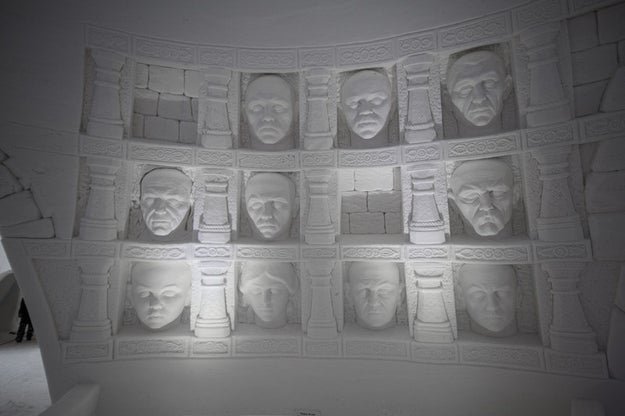 ...Stroll by the Hall of Faces...