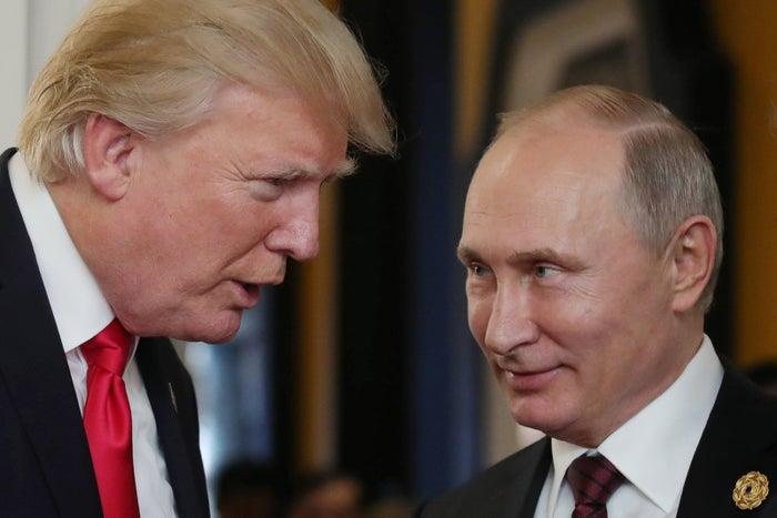 Trump and Putin in Danang, Vietnam, in November.
