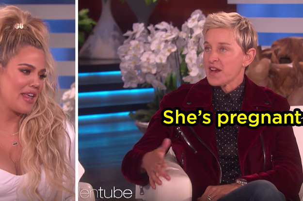 LOL, Ellen Just Straight-Up Asked Khloe Kardashian About Kylie Jenner Being Pregnant