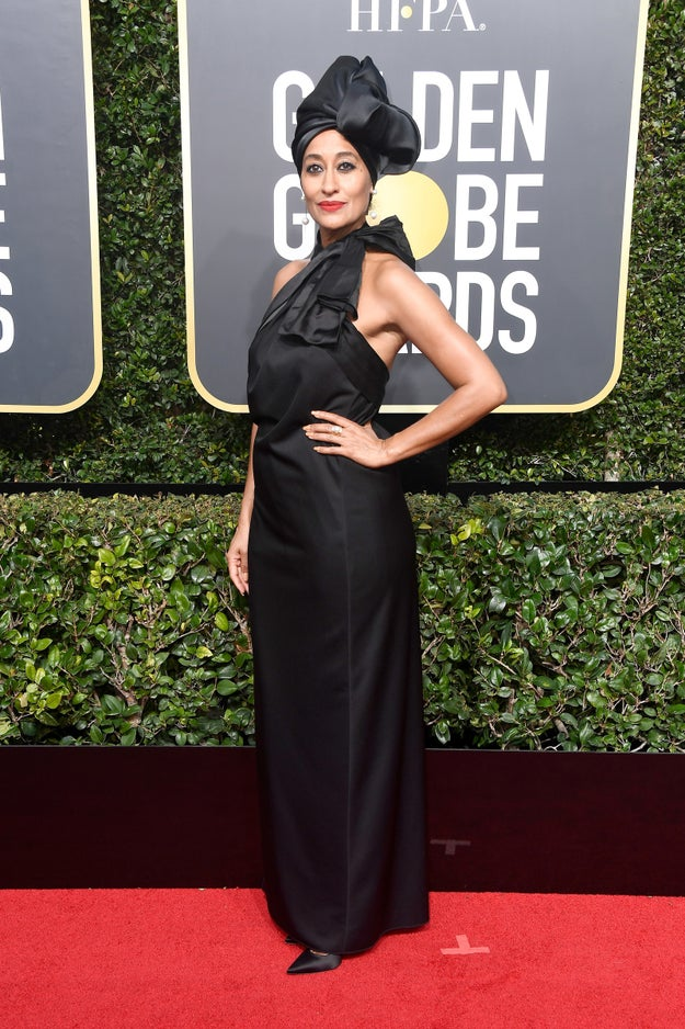 Did you watch the Golden Globes? Were you in awe of all the beautiful ladies and gents showing solidarity for victims of sexual assault and violence by wearing black?