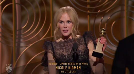 On Sunday, Nicole Kidman won the first Golden Globe of the night.