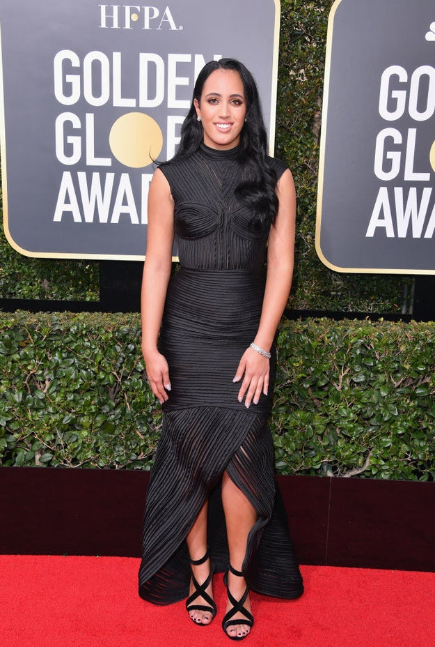 At tonight's Golden Globe Awards, Simone Garcia Johnson had the honor of being the show's first Golden Globes Ambassador.