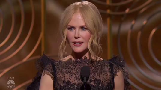 """""""This character that I played represents something that is the center of our conversation right now: Abuse,"""" Kidman said."""