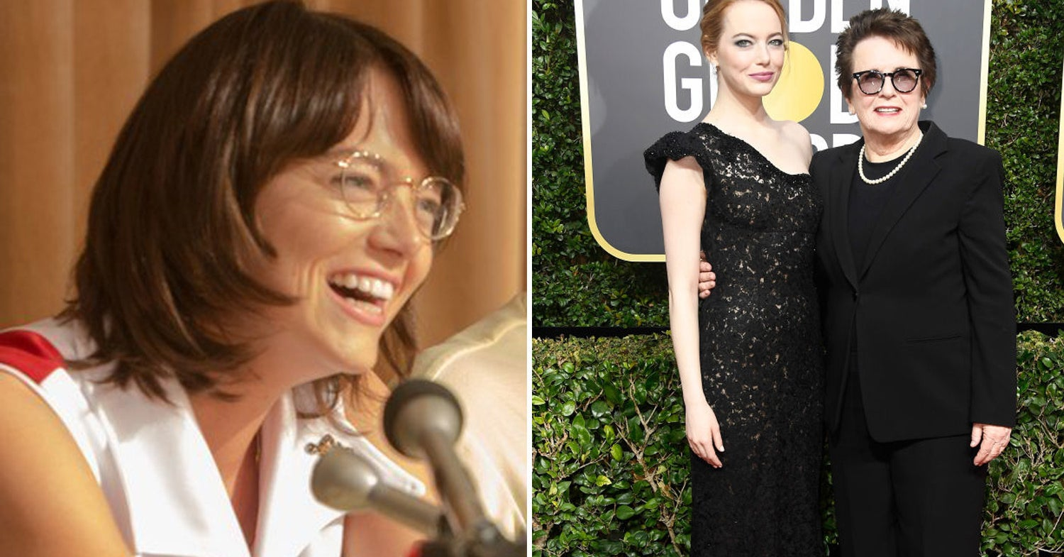 Emma Stone Brought Billie Jean King As Her Date To The 2018 Golden Globes And I'm Going To Need To Be Resuscitated