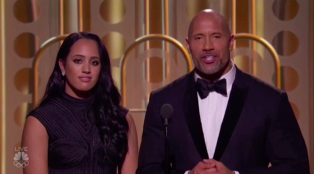 And during the show, Dwayne had some beautiful words to introduce Simone.