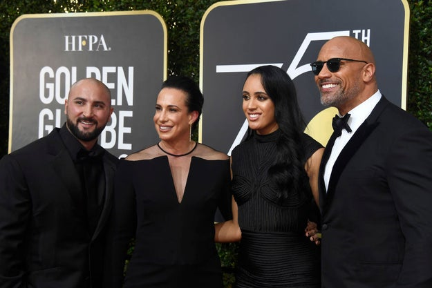 Simone of course looked amazing. But even more amazing was her bond with her dad, Dwayne Johnson, all night.