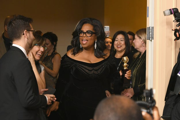 Winfrey then thanked her hosts, the Hollywood Foreign Press, and championed the importance of a free media.