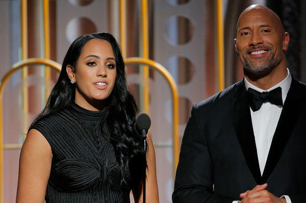 Simone Johnson And The Rock At The Golden Globes Is The Cutest Thing Ever