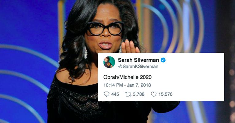 aecfee40712 21 Perfect Celeb Tweets About Oprah s Golden Globes Speech