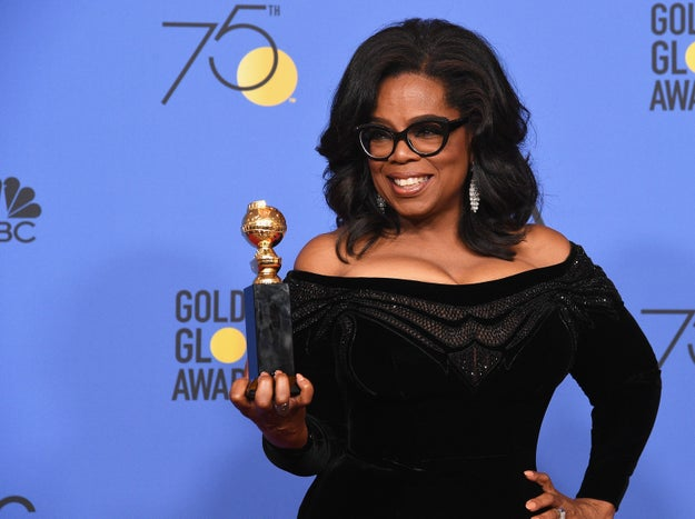 "Finally, Winfrey ended her speech promising that she and the people in attendance at the Golden Globes were fighting hard ""to make sure that they become the leaders who take us to the time when nobody ever has to say 'Me too' again!"""