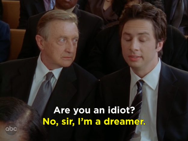 When Dr. Kelso finally asked J.D. this question: